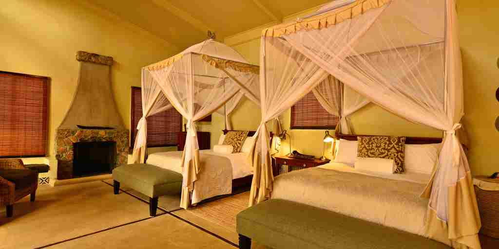 16. Imvelo Safari Lodges   Camelthorn Lodge   Forest Villa, Twin double bed configuration