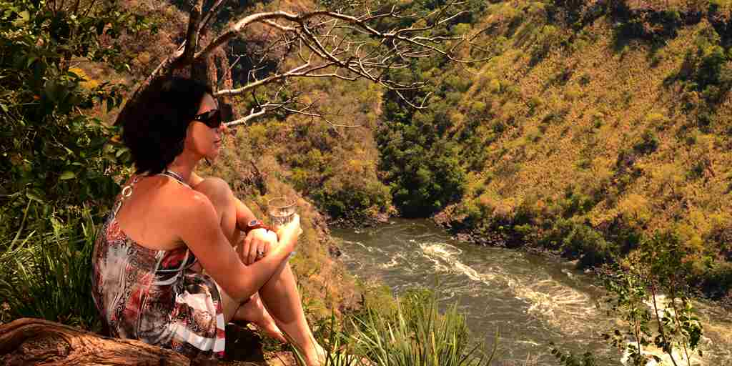 37. Imvelo Safari Lodges - Gorges Lodge - A guest enjoying the view.JPG
