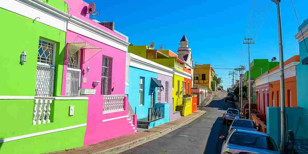 bo kaap colourful houses south africa yellow zebra safaris