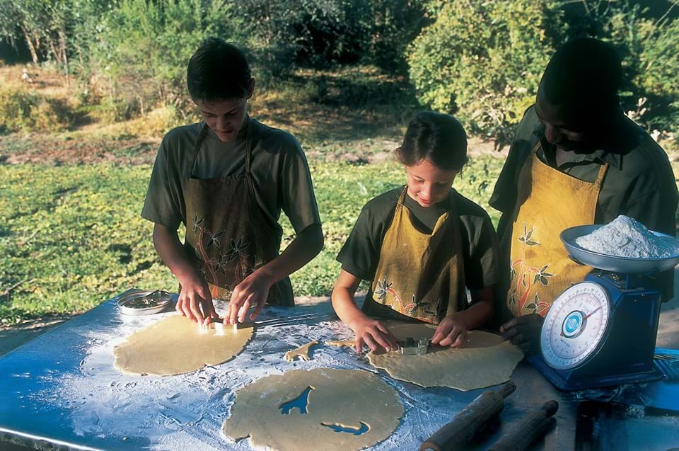 Children Baking with the Chef on Safari, Africa