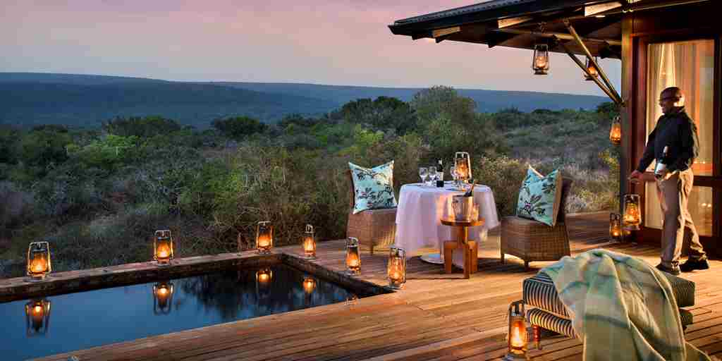 Kwandwe Ecca Lodge suite terrace eve.jpg