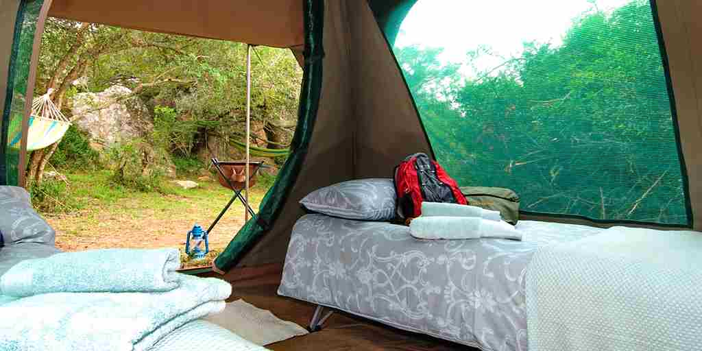 Explorer Camp   tent interior