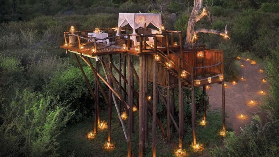 Candle-Lit Secluded Deck at Lion Sands, South Africa