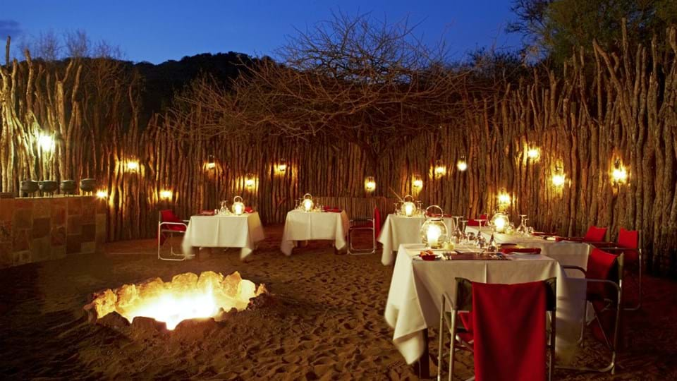 A Candle-Lit Boma Bush Dinner on Safari Africa