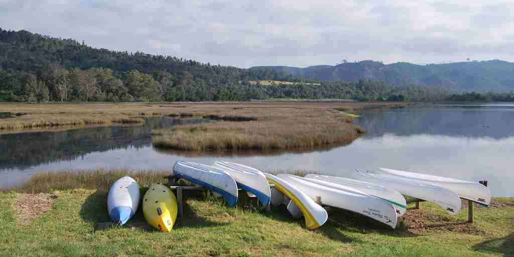 Phantom Forest jetty view with canoes.JPG