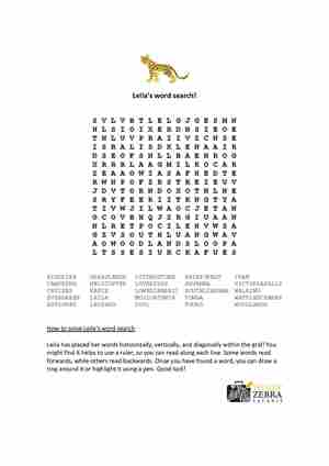 Leila's Word Search