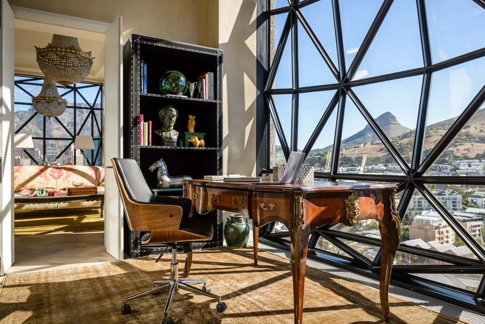 The Penthouse Office Study overlooking Cape Town