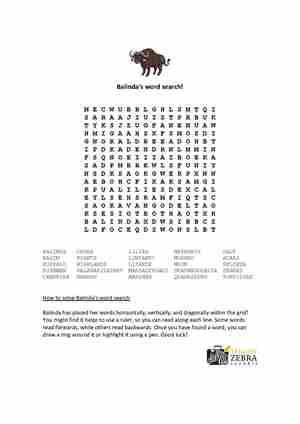 Balinda's Wordsearch