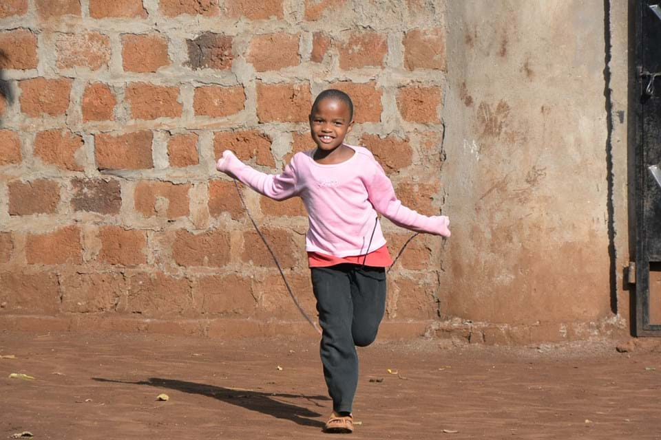 Young Girl Skipping
