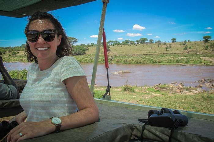 Annabel in the Serengeti, Tanzania