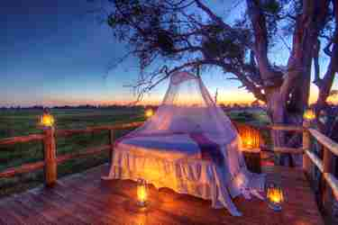 Kanana Camp star bed Botswana