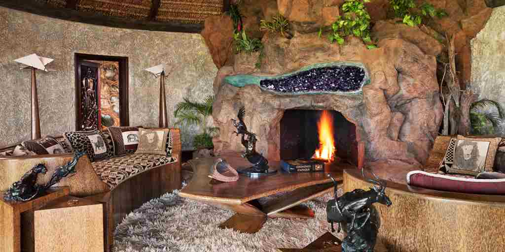 Safari Cottage Fireplace
