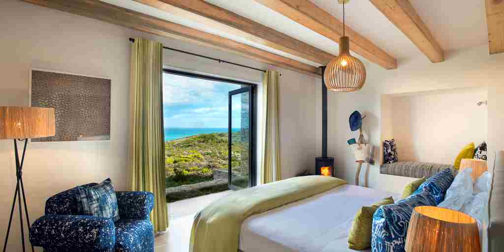 Morukuru Ocean House bedroom with view