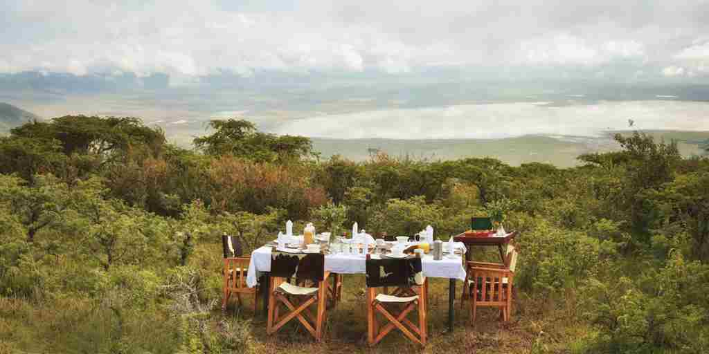 Dining at Ngorongoro crater