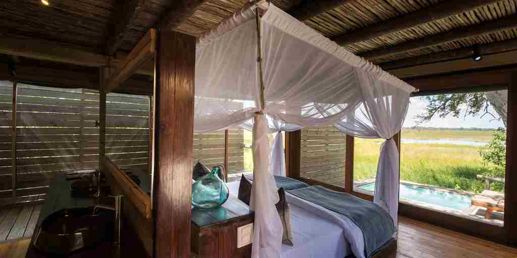 Vumbura Plains Botswana Bedroom Pool