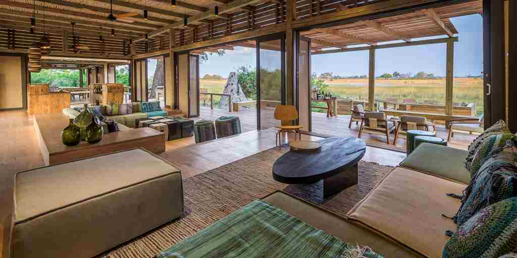 Vumbura Plains Botswana Lodge Main Area