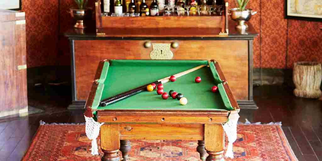 Jack's Camp, Botswana - Pool Table & Drinks Chest.jpg