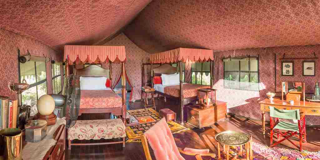 Jack's Camp, Botswana - Bedroom panorama.jpg
