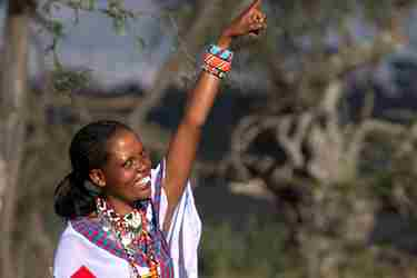 Evalyn Naboisho Guide in the bush