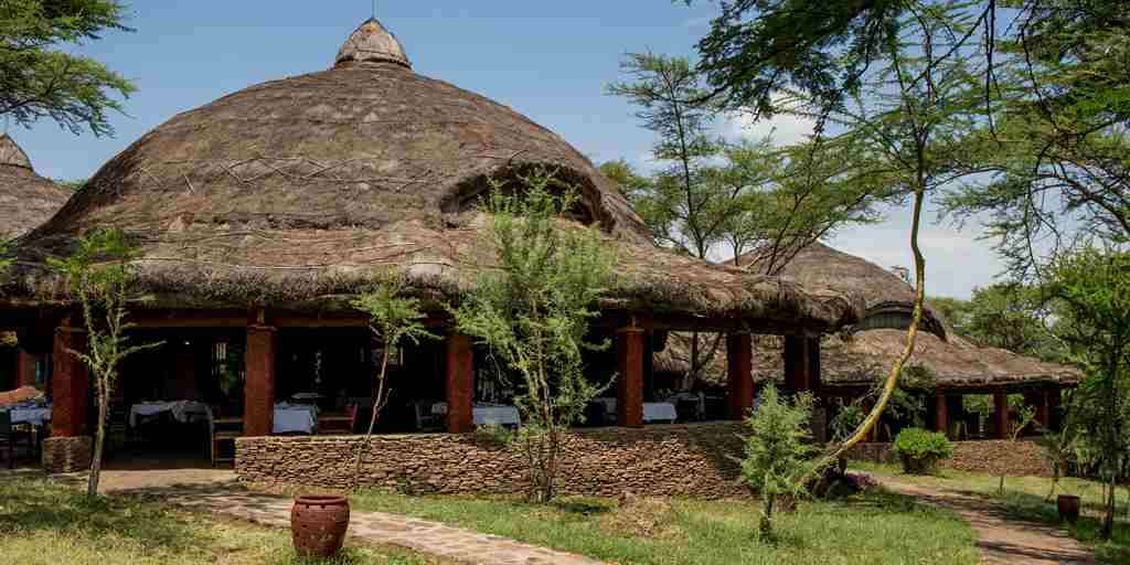 Serena Serengeti dining hut