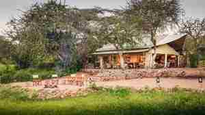Mwiba Tented Camp main area