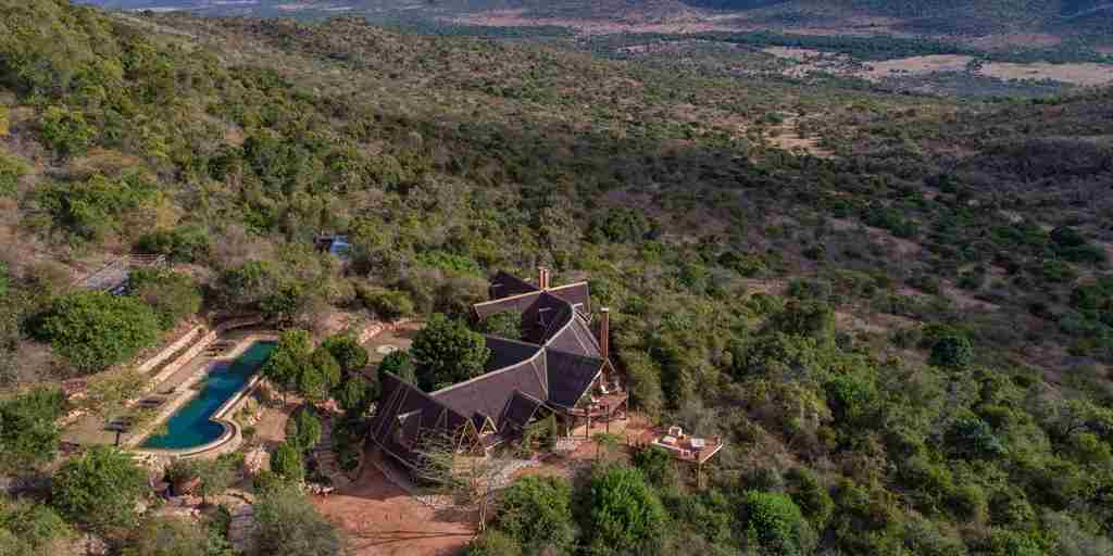 Cottars Bush Camp Ariel View