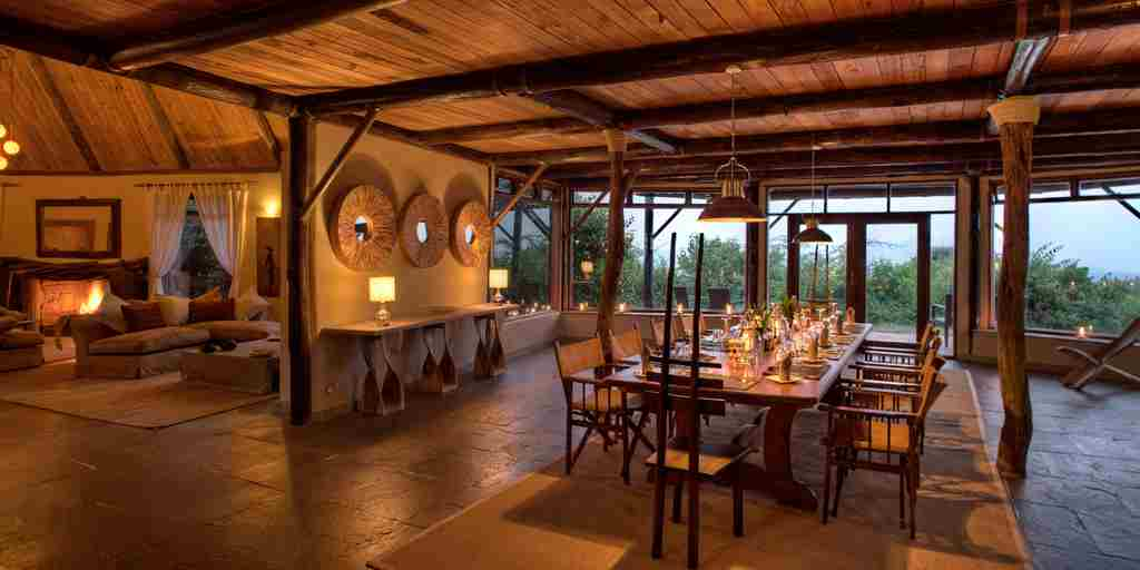 Cottars Private Villa Dining