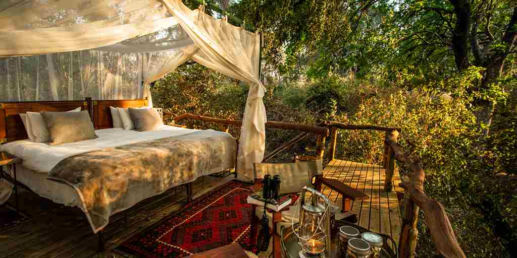 Sapi Springs Camp double bed