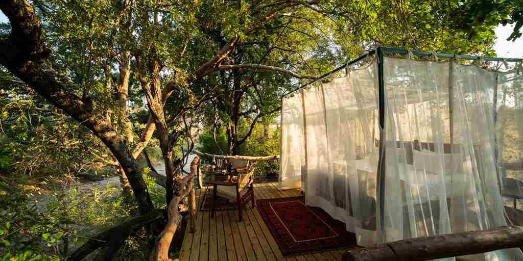 Sapi Springs Camp double bed view