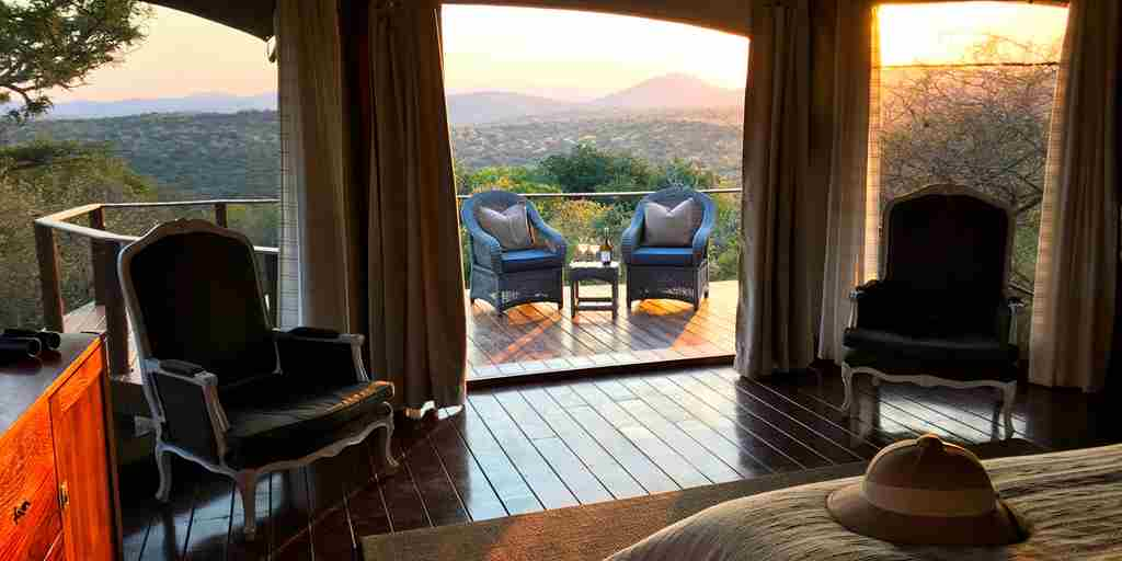 Thanda Tented Camp Bedroom Views