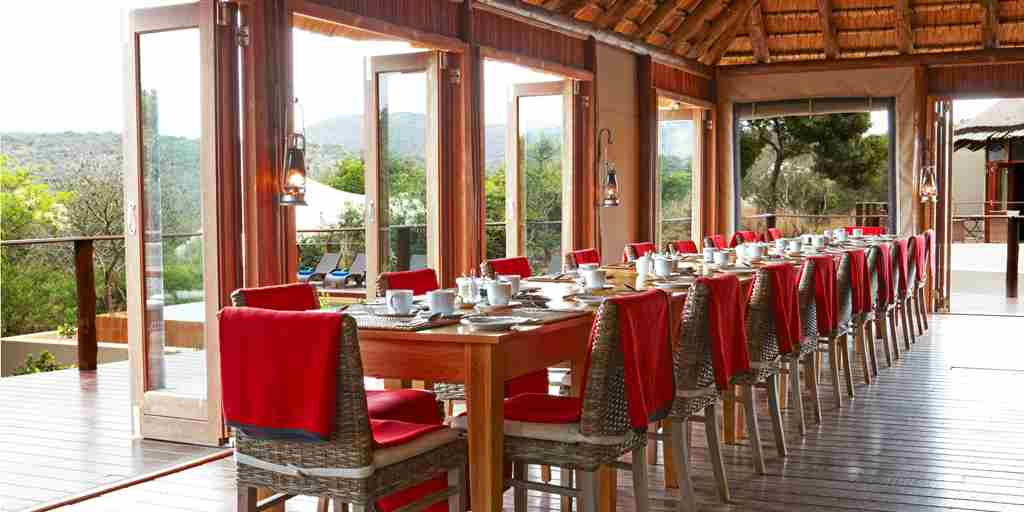 Thanda Tented Camp Dining Area