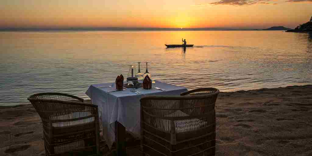Kaya Mawa Beach sunset dining