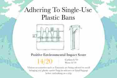Sustainable travel Adhering to single use plastic bans