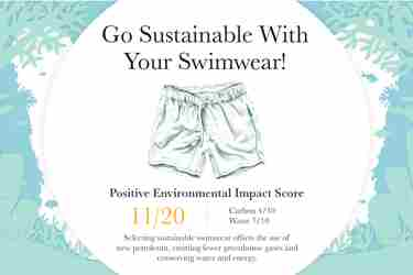 Sustainable travel Go sustainable wth your swimwear