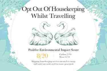 Sustainable travel Opt out of housekeeping
