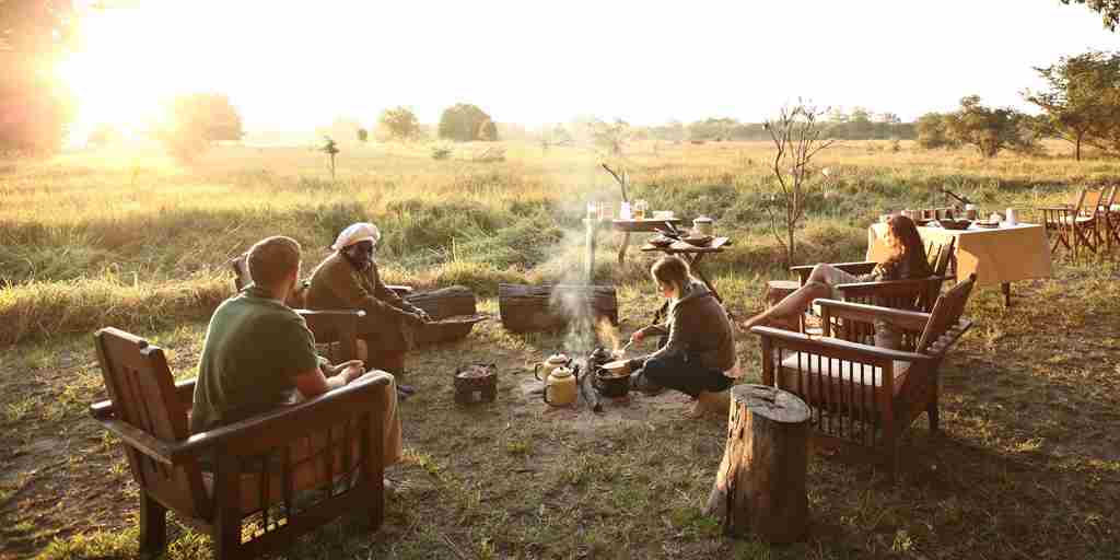 Luwi Camp Guest Safari Breakfast