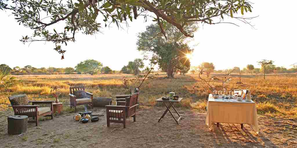 Luwi Camp Safari Breakfast Zambia