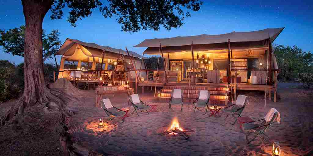 linyanti expeditions botswana camp fire