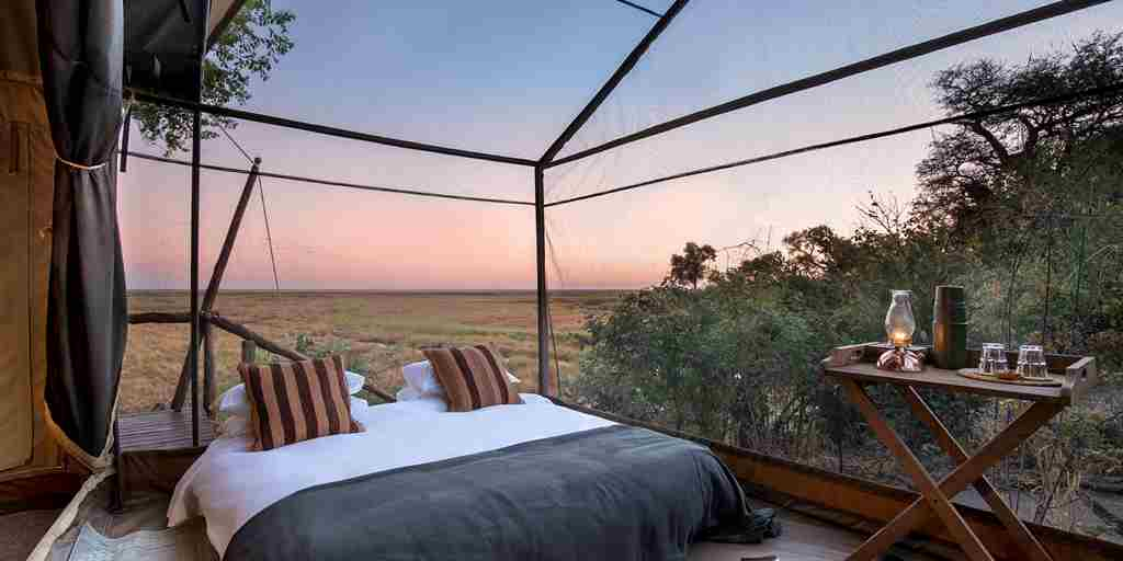 linyanti expeditions botswana double tent room