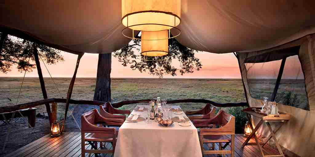 linyanti expeditions botswana sunset tent