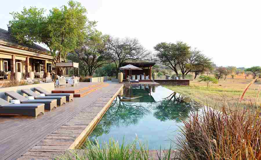 singita serengeti house tanzania pool deck
