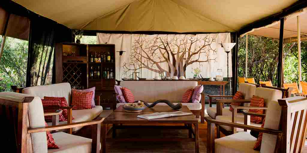 Kwihala camp lounge tent