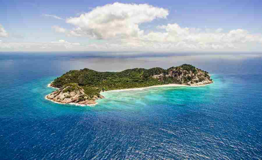 North island view seychelles yellow zebra safaris