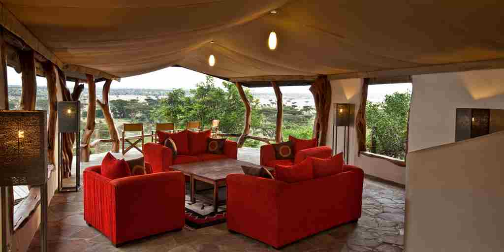 lounge basecamp eagle view kenya yellow zebra safaris
