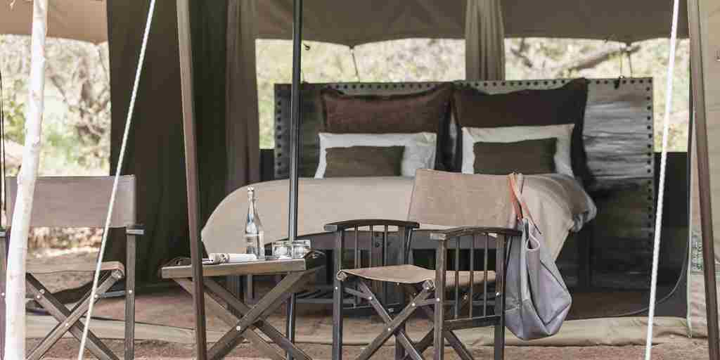 tent basecamp wilderness kenya yellow zebra safaris