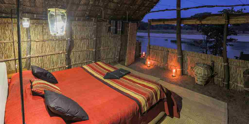 Mwaleshi Camp double chalet zambia yellow zebra safaris