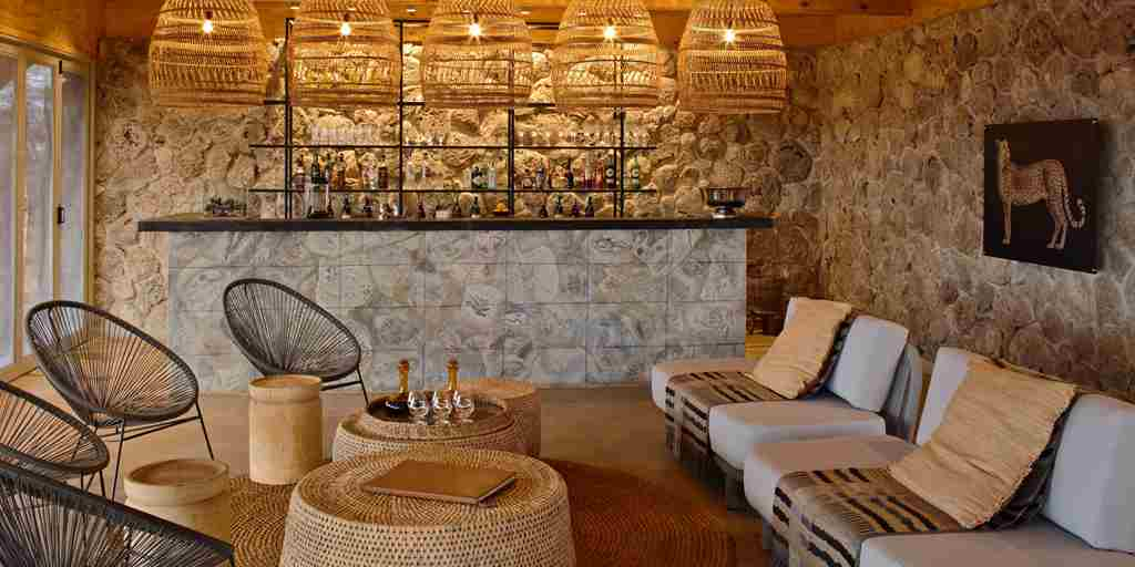 bar interior namiri plains tanzania yellow zebra safaris