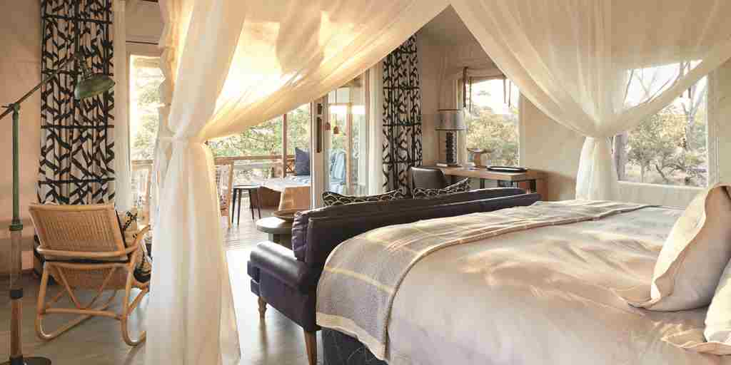 belmond savute elephant lodge botswana double bedroom yellow zebra safaris