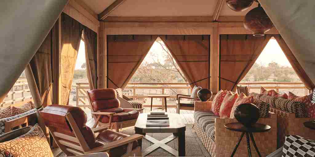 belmond savute elephant lodge main area botswana yellow zebra safaris