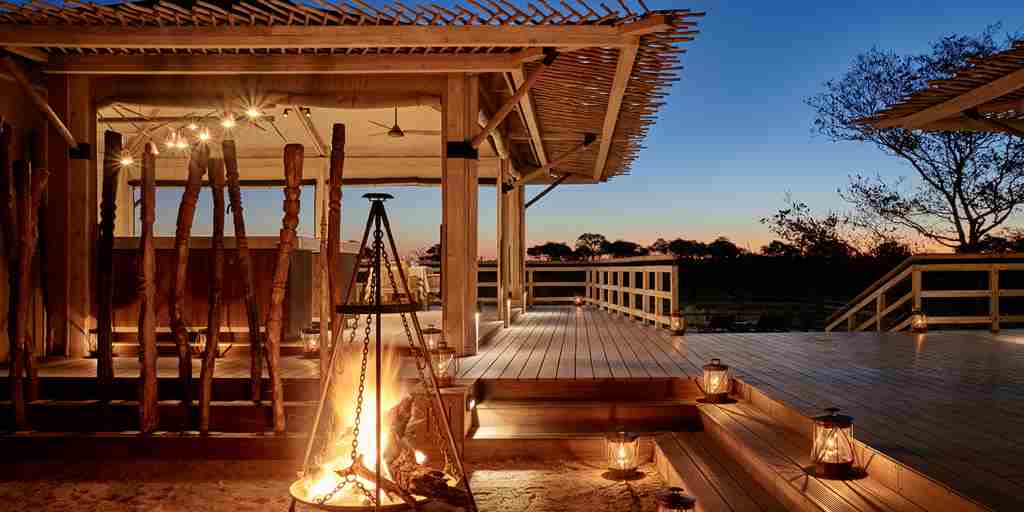 belmond savute elephant lodge botswana fire yellow zebra safaris